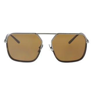 Dolce & Gabbana DG2193J 04/73 Gunmetal/Havana Square Sunglasses - 59-15-140