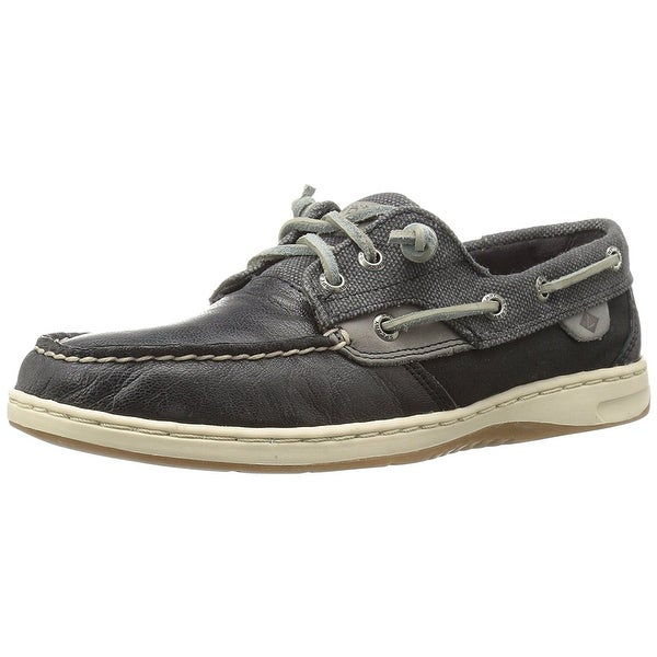 Sperry Womens IvyFish Stripe Suede Square Toe Boat Shoes