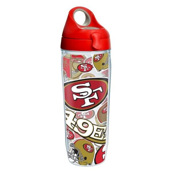 baf6f851 NFL San Francisco 49ers All Over 24 oz Water Bottle with lid
