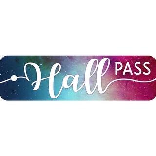 (6 Ea) Plastic Hall Pass Galaxy Script