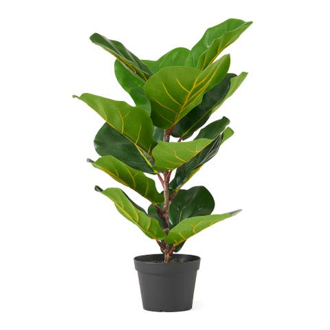 Socorro Artificial Fiddle-Leaf Fig Tree, Green by Christopher Knight Home