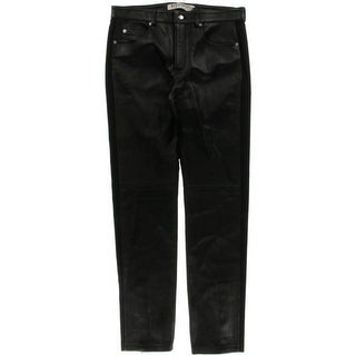 Alexander McQueen Mens Leather 5-Pocket Skinny Jeans - 48
