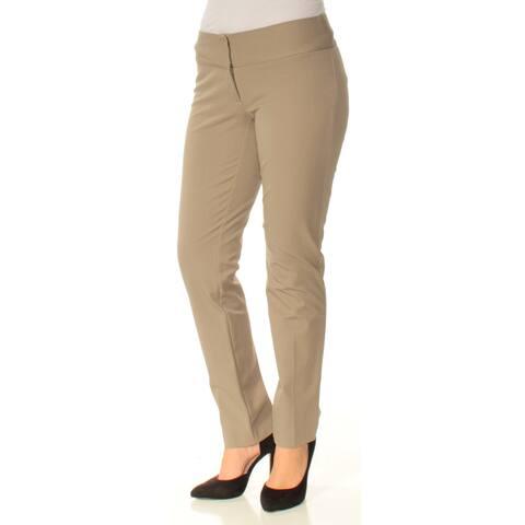 ALFANI Womens Beige Wear To Work Pants Size 4