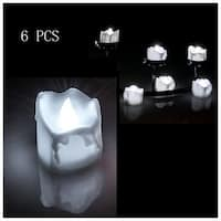 6 PCS Flameless Smokeless LED Tealight Candles Battery Operated for Wedding Party Cool White
