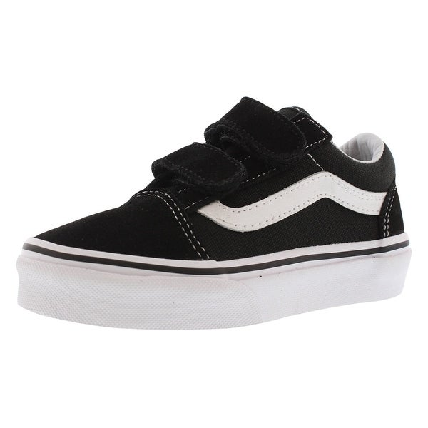 ccd5d314be06ee Shop Vans Old Skool V Black Sneaker Kid s Shoes - Free Shipping ...