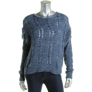 Denim & Supply Ralph Lauren Womens Pullover Sweater Cable Knit Marled