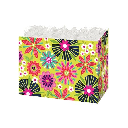 Pack Of 6 Small Bright Blooms Gift Basket Boxes 6 3 4 X 4 X 5 Great For Birthday Easter Mother S Day