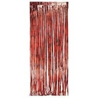 Pack of 6 Dazzling Red Metallic Foil Christmas Hanging Door Fringe Decorations