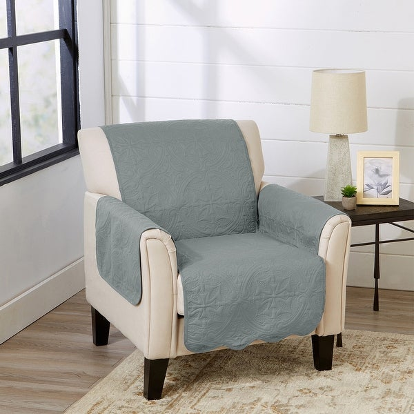 Great Bay Home Elenor Solid Reversible Chair Furniture Protector. Opens flyout.