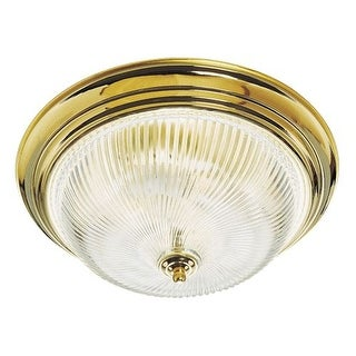 "Design House 507236 16"" Wide Traditional / Classic 3 Light Down Lighting Flushmount Ceiling Fixture"