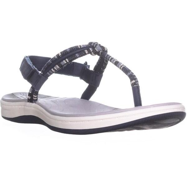Sperry Top-Sider Elsie T-Strap Sandals, Navy Stripe