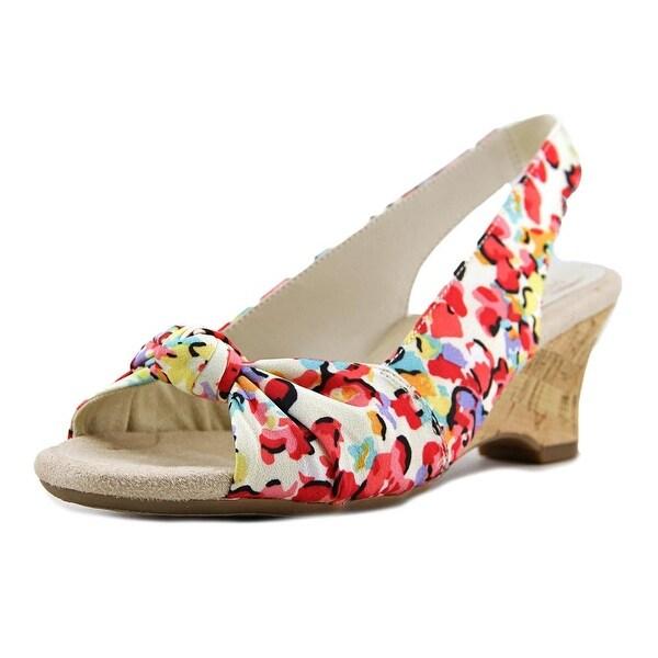 Aerosoles Zen Garden Women Bone Floral Sandals