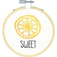 """4"""" Stitched In Thread - Sweet Mini Embroidery Kit"""