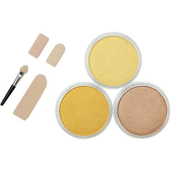 PanPastel Ultra Soft Artist Pastel Set 9ml 3/Pkg-Metallics-L -  metallics-light gold, rich gold & bronze