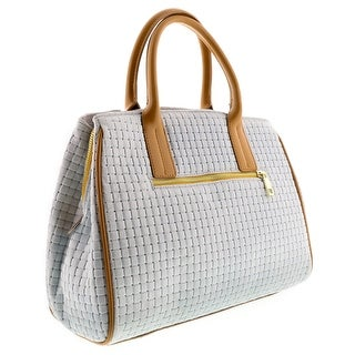 HS2076 BI SASA White Leather Satchel/Shoulder Bag
