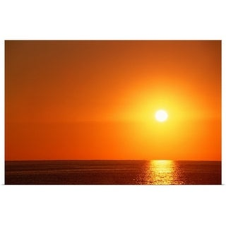 """Sunset over ocean"" Poster Print"