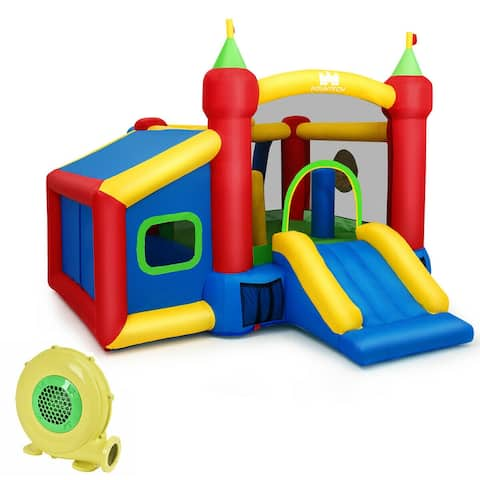 Kids Gift Inflatable Bounce House with 480W Blower - Multi