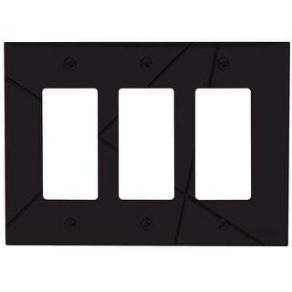Atlas Homewares NSTR Modernist Triple Rocker Switch Plate - N/A