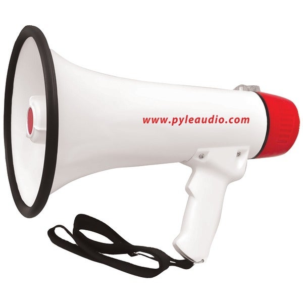 PYLE PRO PMP48IR 40-Watt Professional Megaphone/Bullhorn with Handheld Microphone/Siren, Rechargeable Battery & Auxiliary Jack