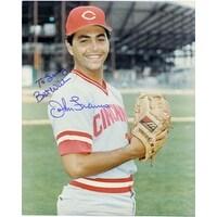 Signed Franco John Cincinnati Reds 8x10 P autographed