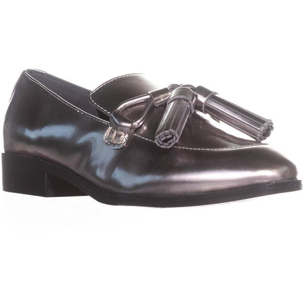 Marc Fisher Envy2 Slip-on Loafers, Pewter Patent