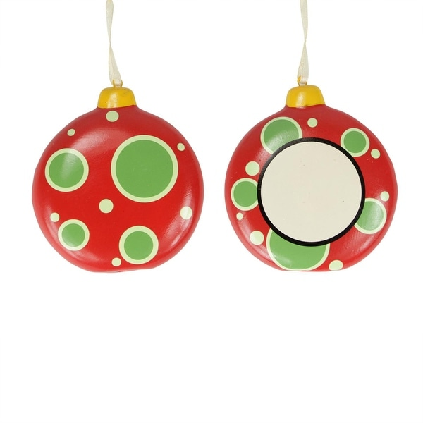 "3.25"" Home for the Holidays Blank Monogram Christmas Disk Ornament"