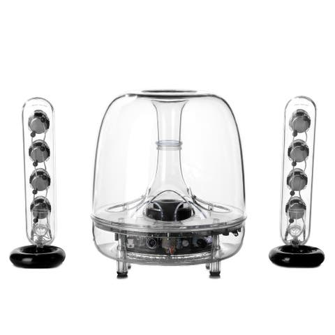 Harman Kardon Soundsticks Wireless Bluetooth Enabled 2.1 Channel Speaker System - Clear