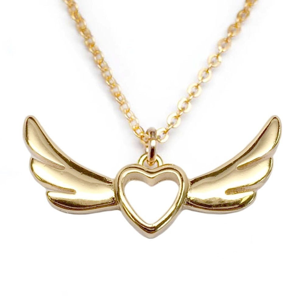 """Julieta Jewelry Wings Of Love Gold Charm 16"""" Necklace - Thumbnail 0"""