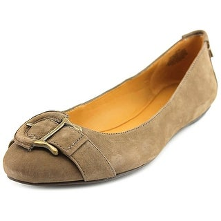 Nine West Camellias Women Round Toe Leather Brown Ballet Flats