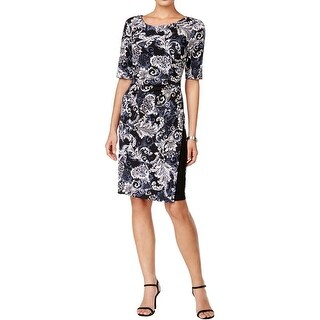 Connected Apparel Womens Wear to Work Dress Jersey Printed