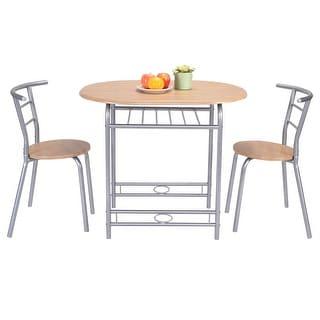 Costway 3 PCS Table Chairs Set Kitchen Furniture Pub Home Restaurant Dining Set