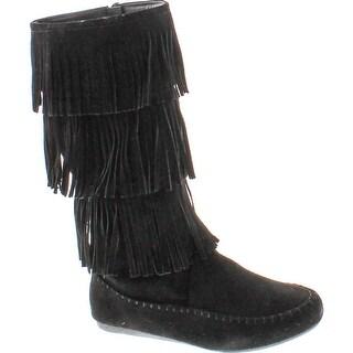 Forever Womens Candice-48 Fashion Layered Fringe Boots