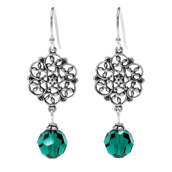 Emerald Crystal Lillian Birthstone Earrings - May - Beadaholique Jewelry Kit