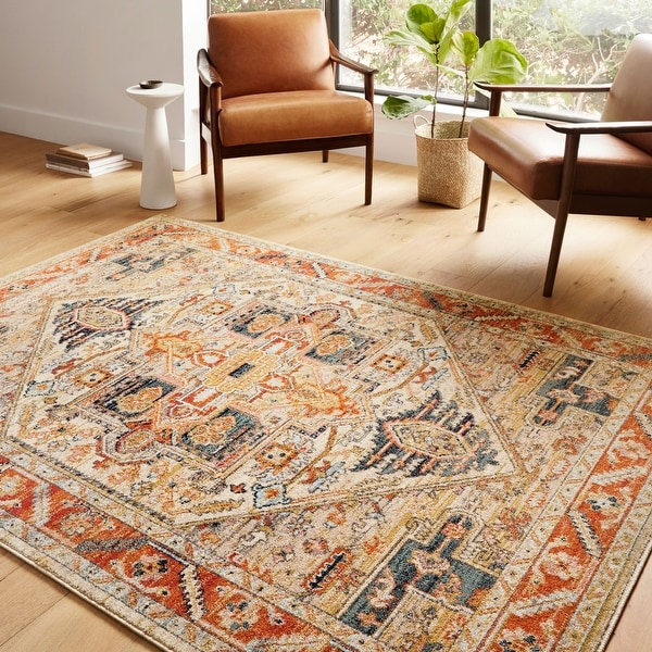 Alexander Home Luxe Antiqued Distressed Boho Area Rug. Opens flyout.