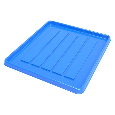 Storex School Locker/Office Cubicle Boot Tray, 12-3/8 x 11 x 4/5 Inches, Blue