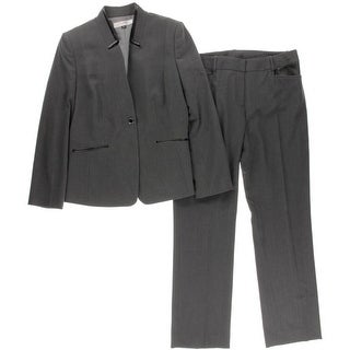 Tahari ASL Womens Pant Suit Heathered 2PC - 2