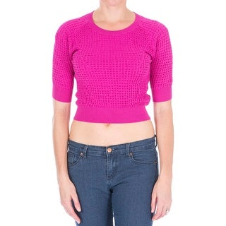 Carven Womens Pullover Sweater Knit Elbow Sleeves - M