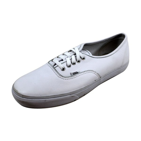 7425f8cd50ac62 Shop Vans Men s Authentic True White Leather VN-0KUML3H - Free ...