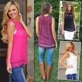Fashion Women Summer Vest Top Sleeveless Blouse Casual Tank Tops T-Shirt Lace - Thumbnail 7