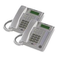 Panasonic-KX-T7736W (2 Pack) Speakerphone Telephone With LCD