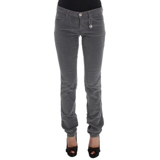 Costume National Gray Cotton Super Slim Corduroys Jeans - w25
