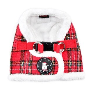 Blitzen Dog Harness Vest By Puppia - Red Plaid - Large