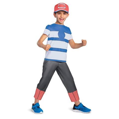 Pokemon Ash Ketchum Alolan Classic Child Costume - Blue