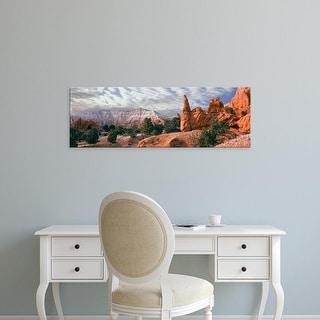 Easy Art Prints Panoramic Image 'Sandstone rock formations, Kodachrome Basin State Park, Utah, USA' Premium Canvas Art