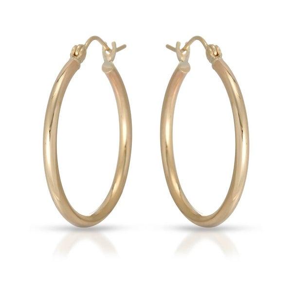 Mcs Jewelry Inc 10 KARAT YELLOW GOLD HOOP EARRINGS 27MM