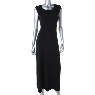 Calvin Klein Womens Matte Jersey Lace Overlay Maxi Dress - S
