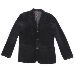 Guess Co. NEW Black Mens Medium M Three Button Corduroy Blazer Jacket