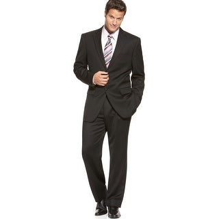 Jones New York 'Graham' Black Mini-Stripe Suit 40 Short 40S Pants 33 Waist