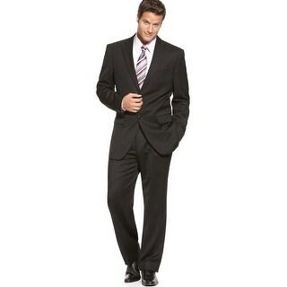 Jones New York 'Graham' Black Mini-Stripe Suit 44 Long 44L Pants 37 Waist