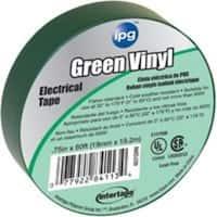 "Intertape 85827 Green Vinyl Electrical Tape, 3/4"" x 66'"